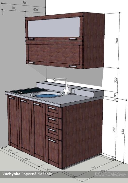 Ako na velkú kuchyňu do malého priestoru?
