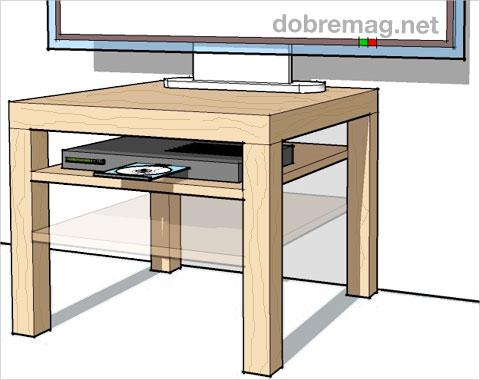 Upravte si nábytok z IKEA za pár korún: lacný stolík pod televízor