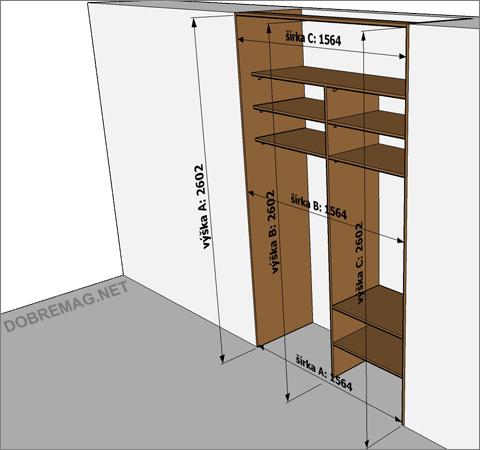 Ako vyrobiť vstavané skrine svojpomocne: posuvné dvere