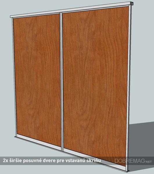 posuvné dvere pre vstavané skrine