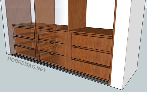Ako objednať nábytok na mieru: zásuvky a vstavané skrine